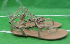 NEW Summer  skintone Shoes Roman Gladiator Lace Up Sexy Sandals women Size 6.5
