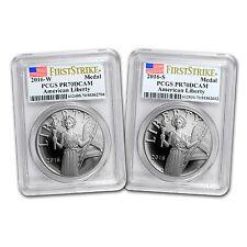 2016 2-Coin American Liberty Silver Medal Prf Set PR-70 PCGS (FS) - SKU #117648