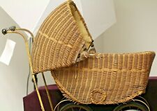 LLOYD LOOM PRODUCTS ANTIQUE WICKER BABY STROLLER ca 1917-1920