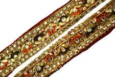 1 Yard Antique Vintage Sari Lace Border Trim Sewing Ribbon Saree Border ST2372