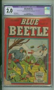 Blue Beetle #17 2.0 CGC  1 Of Only 6 Graded Copies 1942