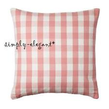 """New IKEA Cushion cover Pillow Cover Smanate 20 x 20"""" White Pink Check"""