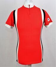 Clásicos Años 70 Acrílico Maillot de ciclismo rojo bélgica talla M 322 P