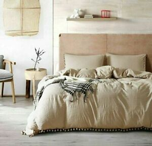 2/3pc Princess Bed Set with Washed Ball Microfiber Fabric Queen King Duvet Cover