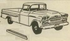 Chevy GMC Pickup Truck Rocker Panel Universal Set 1956-1959 Schott FREE SHIPPING