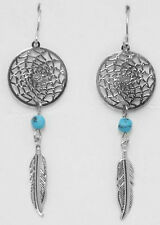 HORSE & WESTERN JEWELLERY JEWELRY  NATIVE USA STYLE DREAM CATCHER EARRINGS b