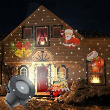 Xmas 12 Pattern Projector Light LED Indoor Outdoor Electric Lamp Christmas Party