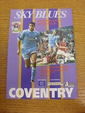 30/09/1995 Coventry City v Aston Villa  . Thanks for viewing this item, buy with