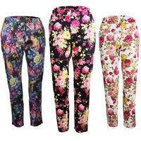 Ladies Womens Casual Floral Print Slim Skinny Peg Trousers Jeans Jeggings Pants