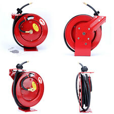 "300 PSI 3/8"" x 25' Auto Rewind Retractable Air Hose Reel Compressor US Ship Red"