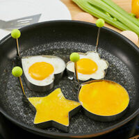 Stainless Steel Frying Pan Fried Egg Pancake Cooking Ring Mould Shaper Mold shap