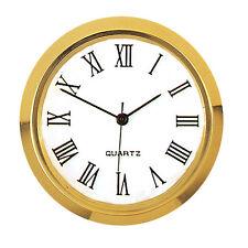 Einsteckwerk Uhrwerk Quarz Römisch Ø35 mm weißes Zifferblatt Metall Lünette