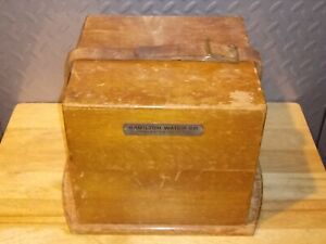 WWII HAMILTON WATCH CO. MODEL 22 SHIP'S CHRONOMETER LEATHER STRAPPED OAK BOX