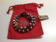 "NWT Uno de 50 Silvertone/Multi Color Beaded Bracelet ""Espuma de Color"" 7.5"" $185"