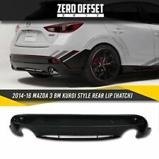 14-16 Mazda 3 BM Kuroi Style Rear Diffuser [Hatch]