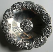 VINTAGE SILVER PLATED THREE FOOTED DISH BOWL A
