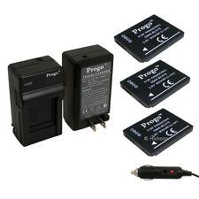 3 Battery & Charger For Panasonic DMW-BCH7 BCH7PP BCH7E DMC-FT10 DMC-TS10