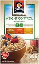 Quaker Instant Oatmeal Weight Control Variety Pack 1.58 oz 8 Count Boxes of 4