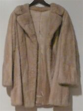 CLASSIC Vintage Natural Lourmaline MINK Fur Coat Stroller Jacket