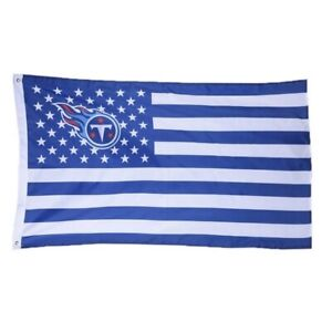 Tennessee Titans 3x5 Foot American Flag Banner New