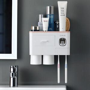 Bathroom accessories organizer set toothbrush holder
