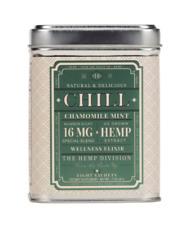 "The HEMP Division ""CHILL"" Chamomile Mint 16 MG Hemp Tea 8 CT Sachet Tin"