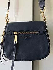 Marc Jacobs Recruit Small Nomad Saddle Bag Crossbody Leather Navy*Used Once*