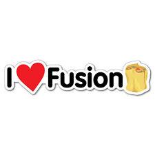 I Heart Fusion Dim Sim Food Sticker Flag Bumper Water Proof Vinyl #7264EN