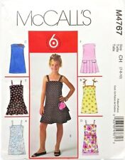 Girls Summer Party Holiday Dress Sewing Pattern M4767 Size 7 8 10 McCalls