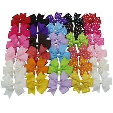boutique kids bow polka dot hair bow for baby girls kids hair pin clips baby ...