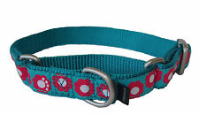 Martingale Collar with Ribbon Overlay for Small Dogs, Fits 8-12inch, 20-30cm