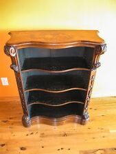 Victorian Marquetry Book Shelf circa mid to late 1800's