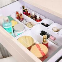 8pc Divided Drawer Storage Organizer Jewelry Make Up Holder Desktop Storage Case