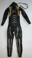 TYR Womens Small Freak of Nature HURRICANE Black Gold Triathlon Swim Wetsuit New