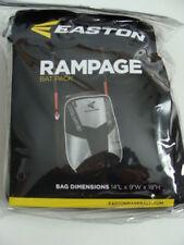 NEW EASTON Rampage Backpack Bat Bag Black Tote Baseball Softball 2 Bats Pack NIP