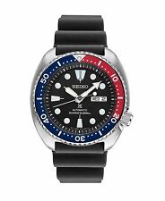 Seiko Mens SRP779 Turtle 45mm Automatic Black Dial Rubber Watch, SRP777