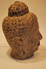 Vintage Painted Clay/Terracotta Buddha Head Statue     #6005