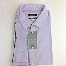 "Men's John Lewis Shirt 18"" Neck Purple Stripe, Tailored Fit, BNWT, Single Cuff !"
