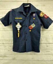 Boy Scouts SS Shirt sz Youth Medium Progress Toward Ranks Some Patches