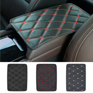 Leather Car Armrest Mat Box Center Console Pad Cushion Trim Cover  Waterproof