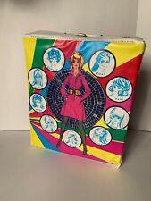 Vintage retro Barbie or Fashion doll Vinyl Carry Case / Hairdresser set, clothes