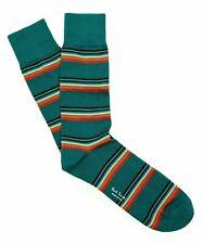 Paul Smith Men's Artist Block Stripe Socks in Green,One Size, Italy, NWT