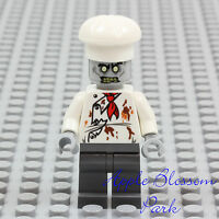 NEW Lego ZOMBIE CHEF MINIFIG - Monster Fighters Halloween Head Minifigure 10228
