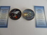 STAR TREK STARSHIPS 2 Plates Klingon Battlecruiser & USS. Enterprise NCC- 1701