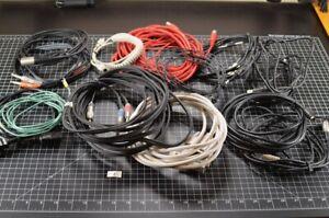 Lot 2 of Pro Audio Cables  Midi / optical/ serial / IEC