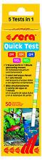 Sera Quick Test 50 Teststreifen / ph, gh, kh, No2, No3 Wasser Test Streifen