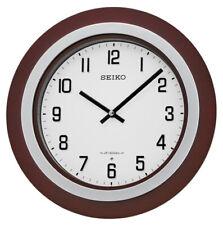 "Seiko Easton 15"" Walnut / Brushed Nickel Musical Wall Clock QXM547BLH"