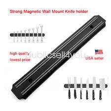 Magnetic Knife Holder Strong Rack Wall Mount Strip Bar Kitchen Chef Utensil 13