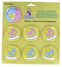Personalised Baby shower badges pack of 7 write on guests names