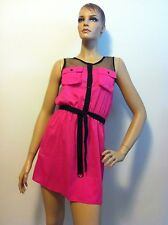 T-Bags Los Angeles Double Pocket Dress in Pink